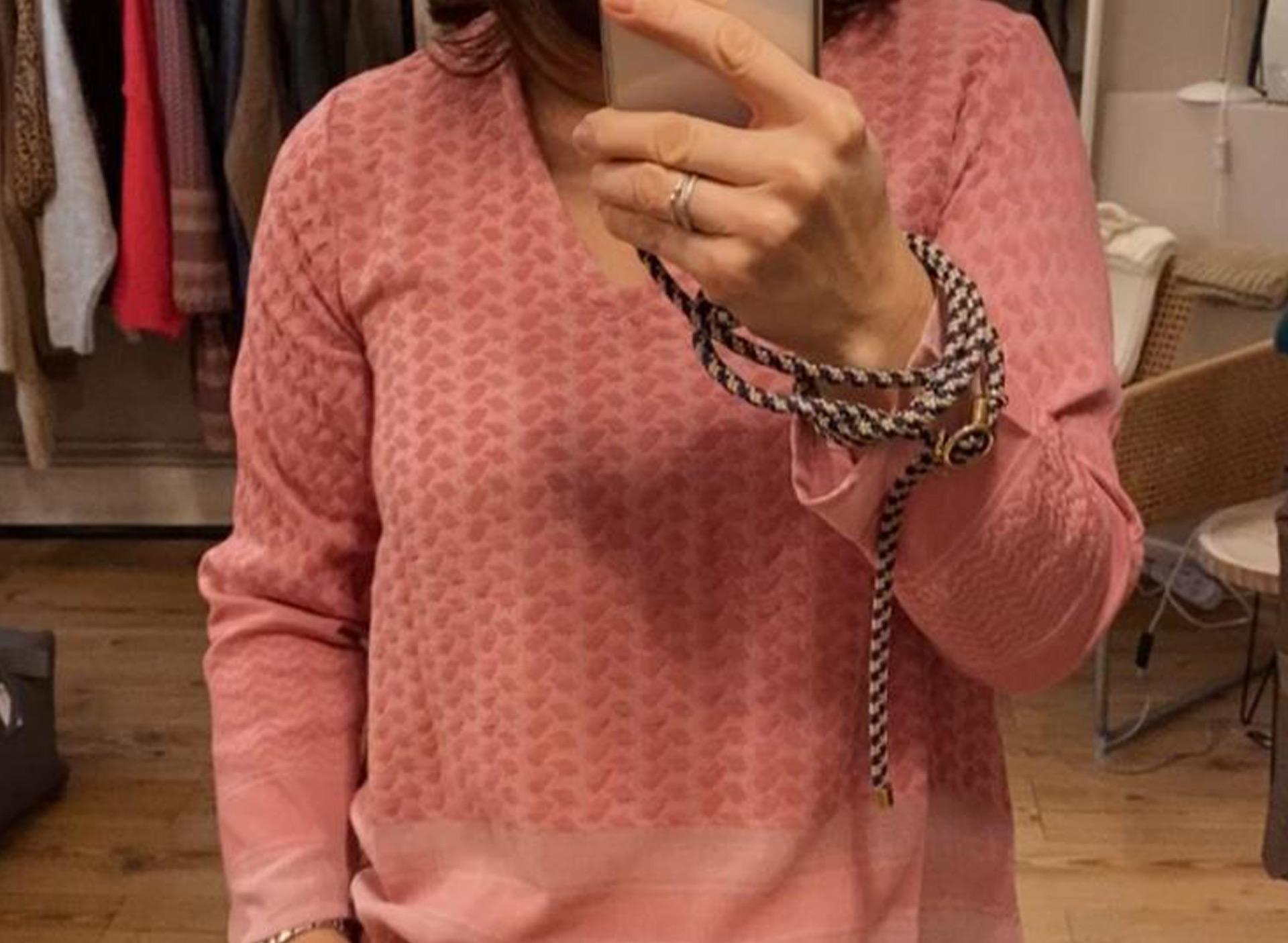 Shirt aus Baumwolle - rosa