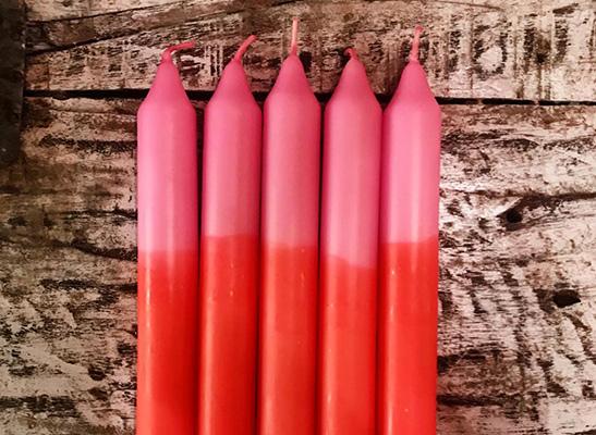 4 verschiedene Kerzen - bunt
