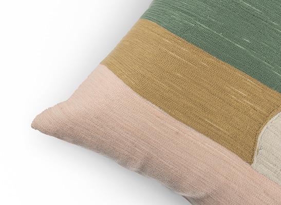 Kissenbezug kurz - BOHO 1 - beige grün