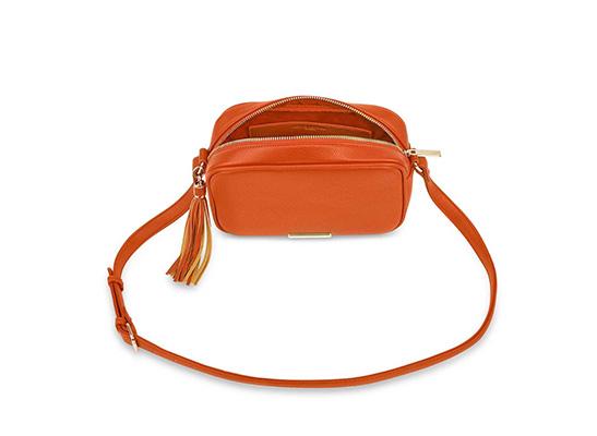 'Sophia Tassel' Crossbody Bag - orange