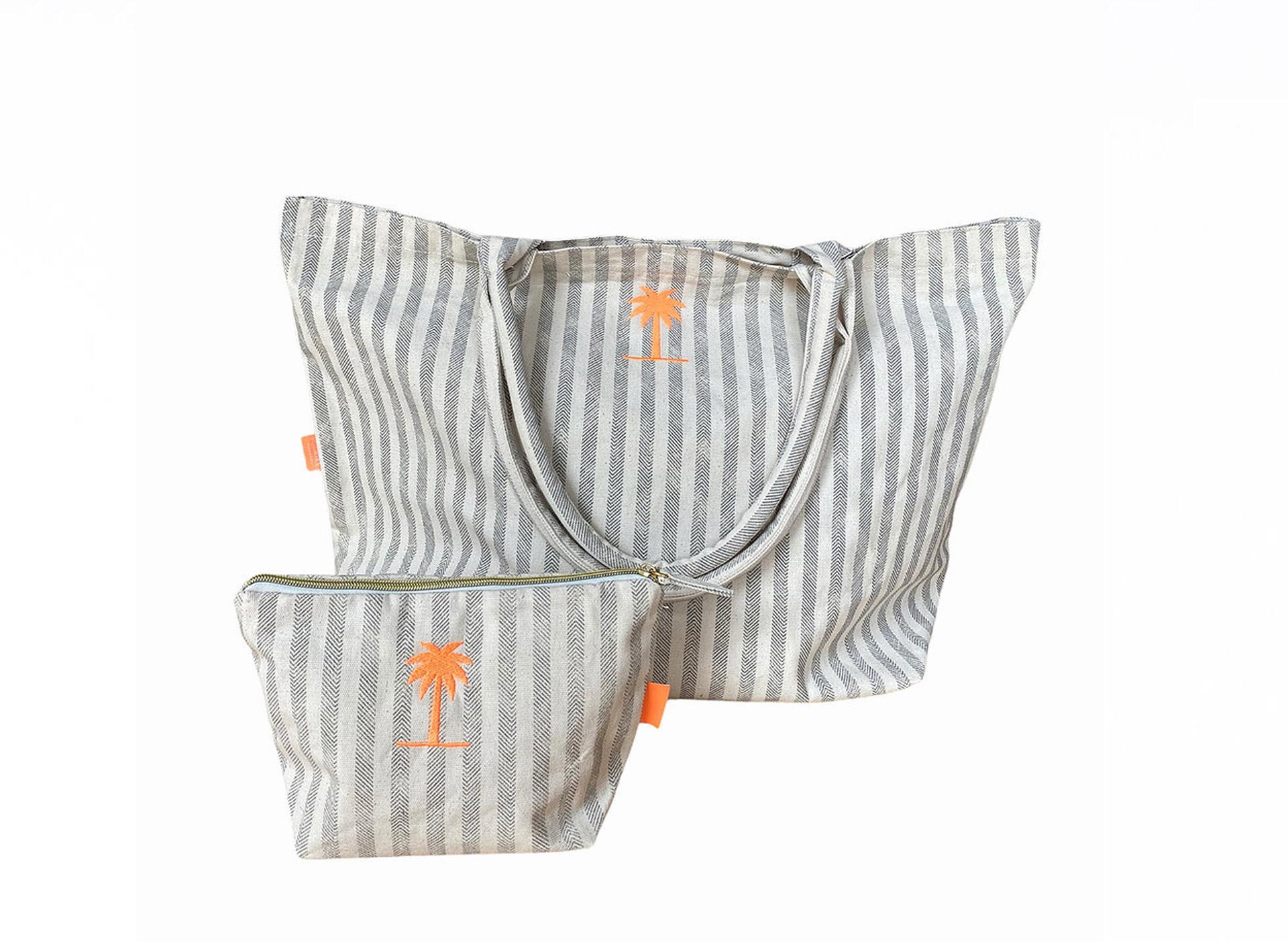 Shopping Bag - Streifen mit Palme