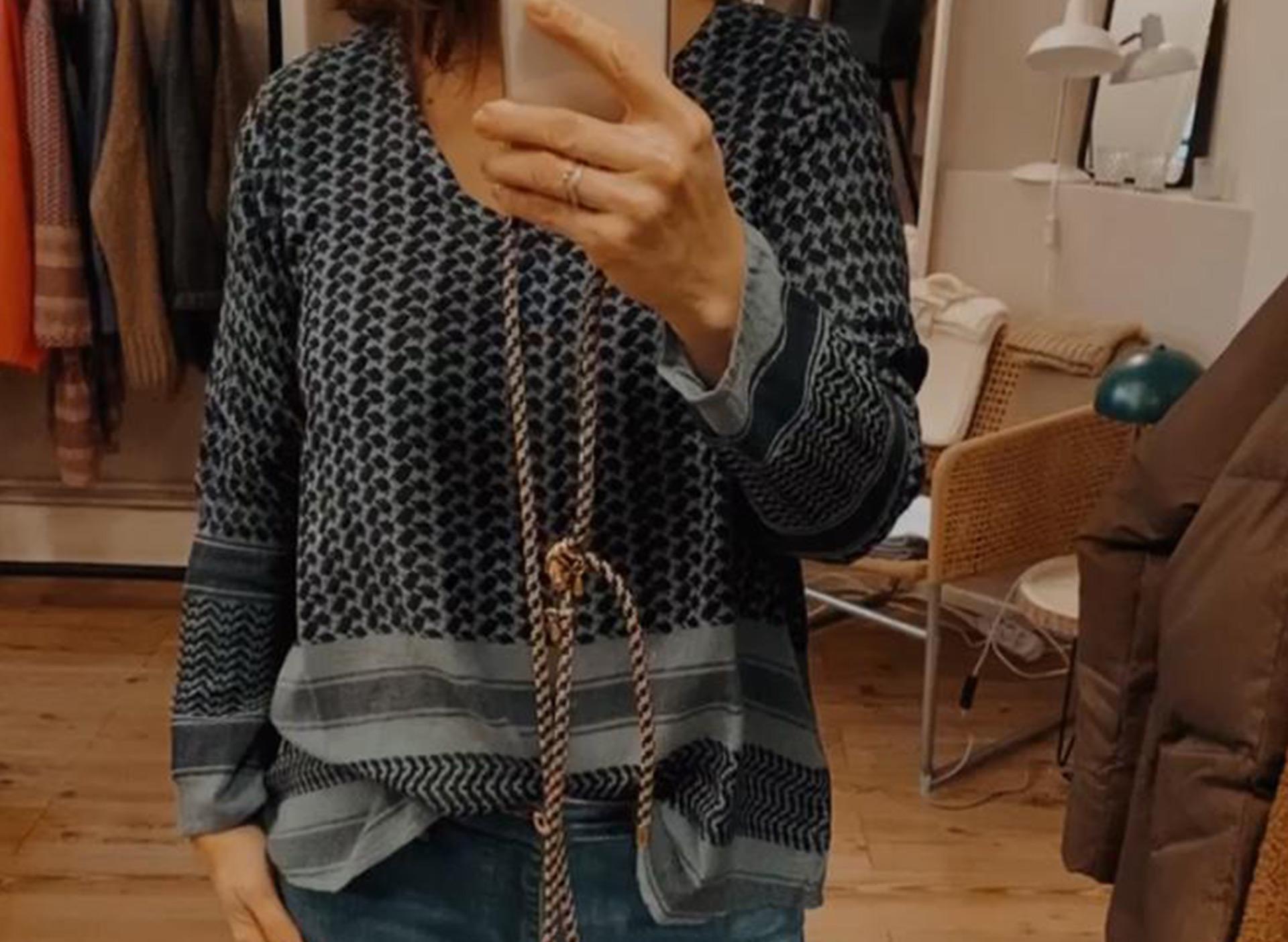 Shirt aus Baumwolle - blau