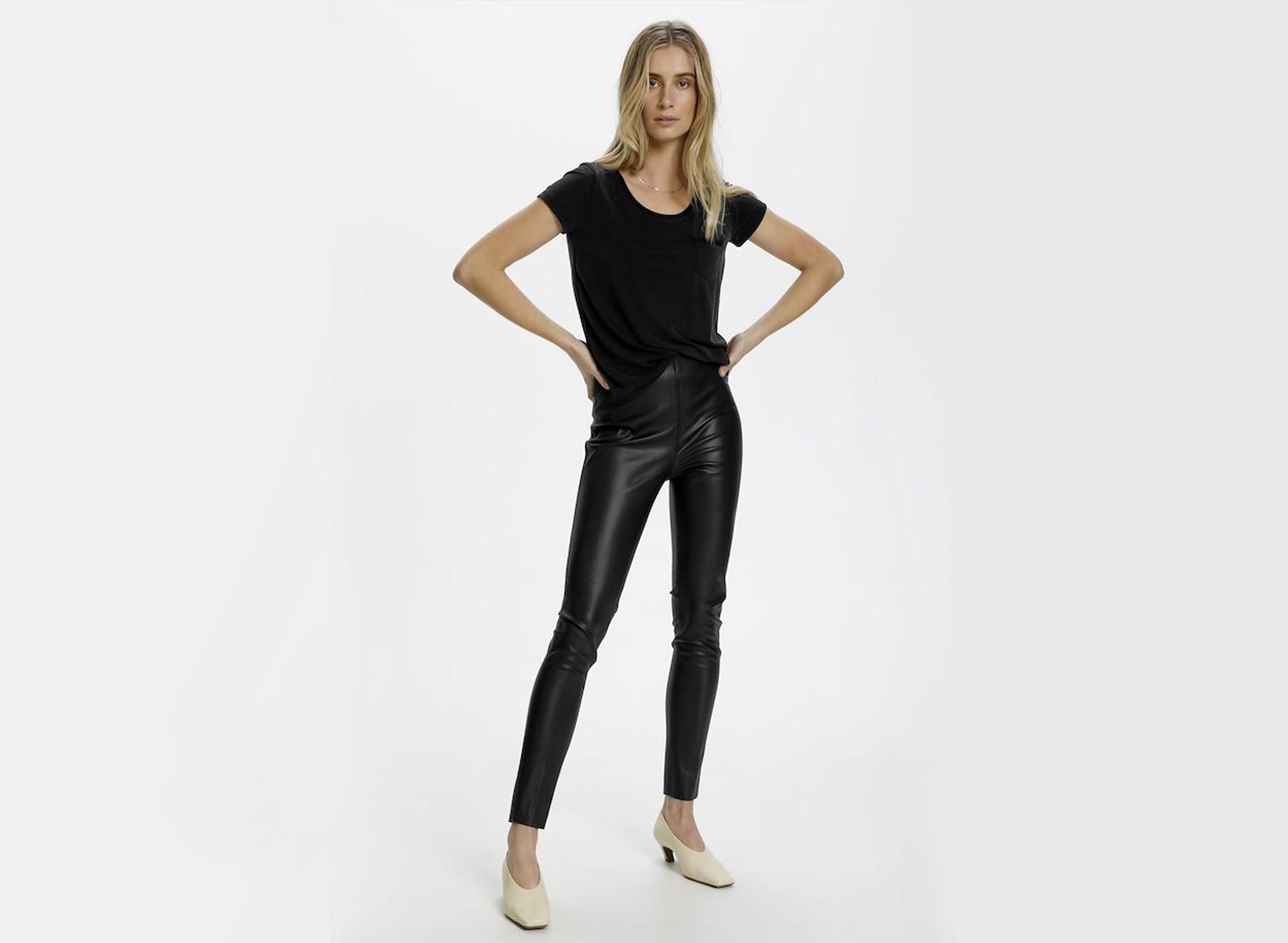 Leggings - Lederimitat
