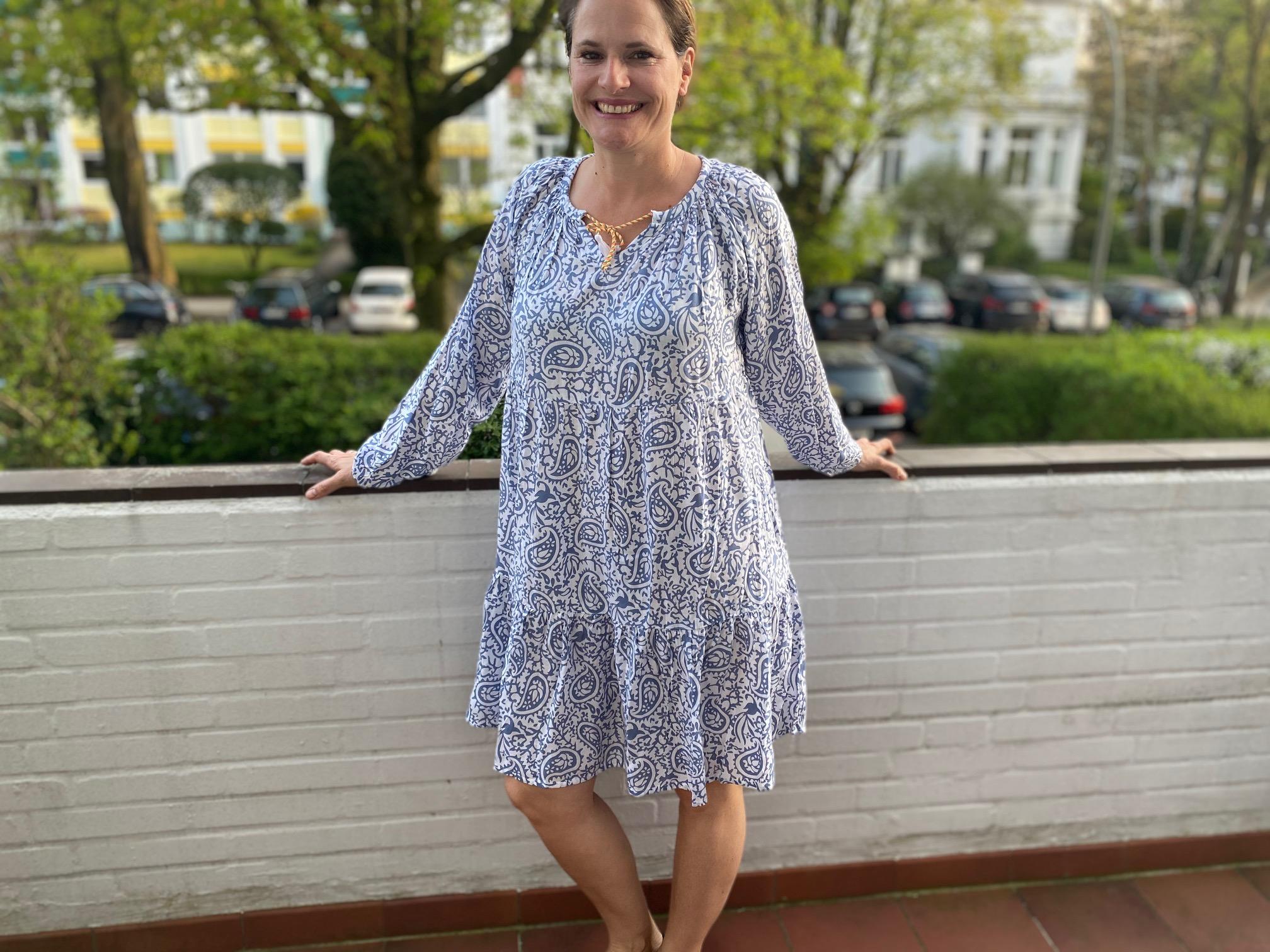 Sommerkleid Lea blau