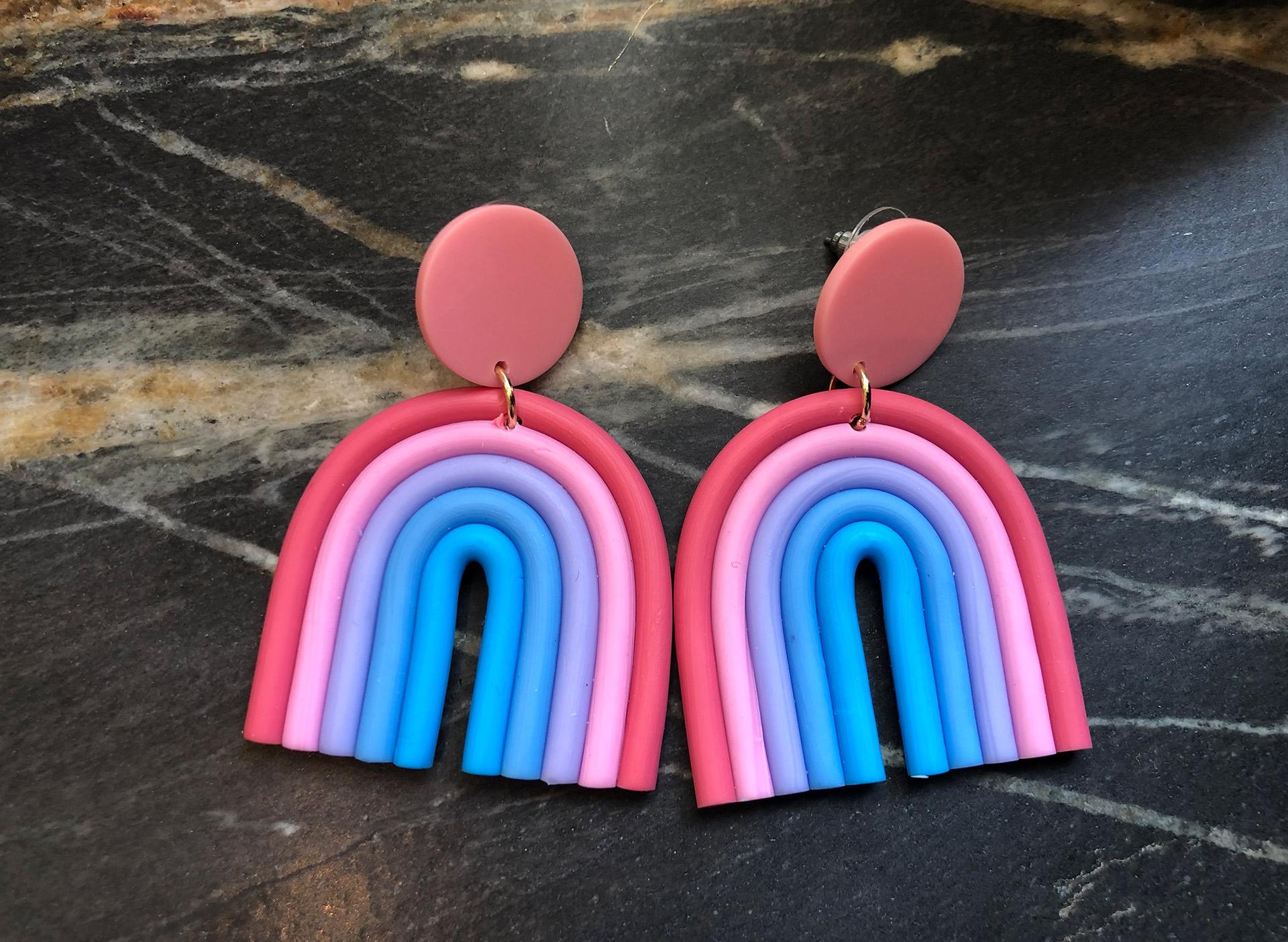 Ohrringe Regenbogen - bunt