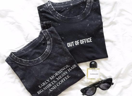 BlaueLilieGossengoldT-ShirtEarlymorningsblackshirt