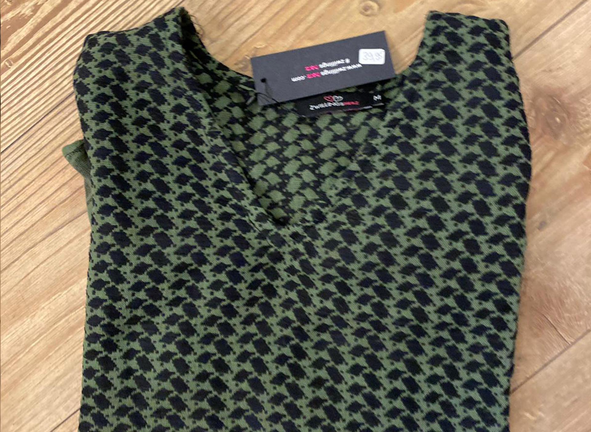 Shirt aus Baumwolle - grün