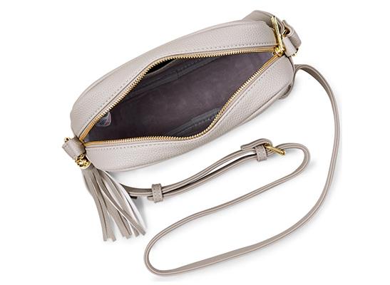 'Sophia Tassel' Crossbody Bag - grau