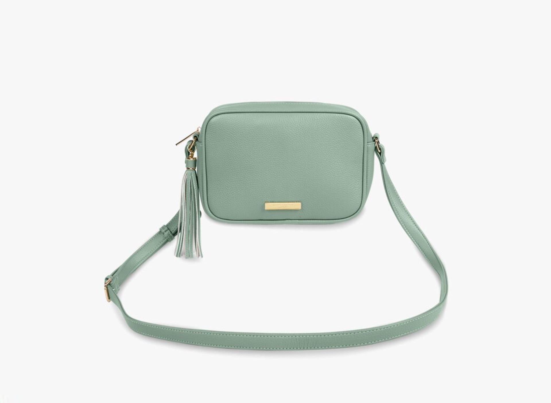 'Sophia Tassel' Crossbody Bag - mintgrün