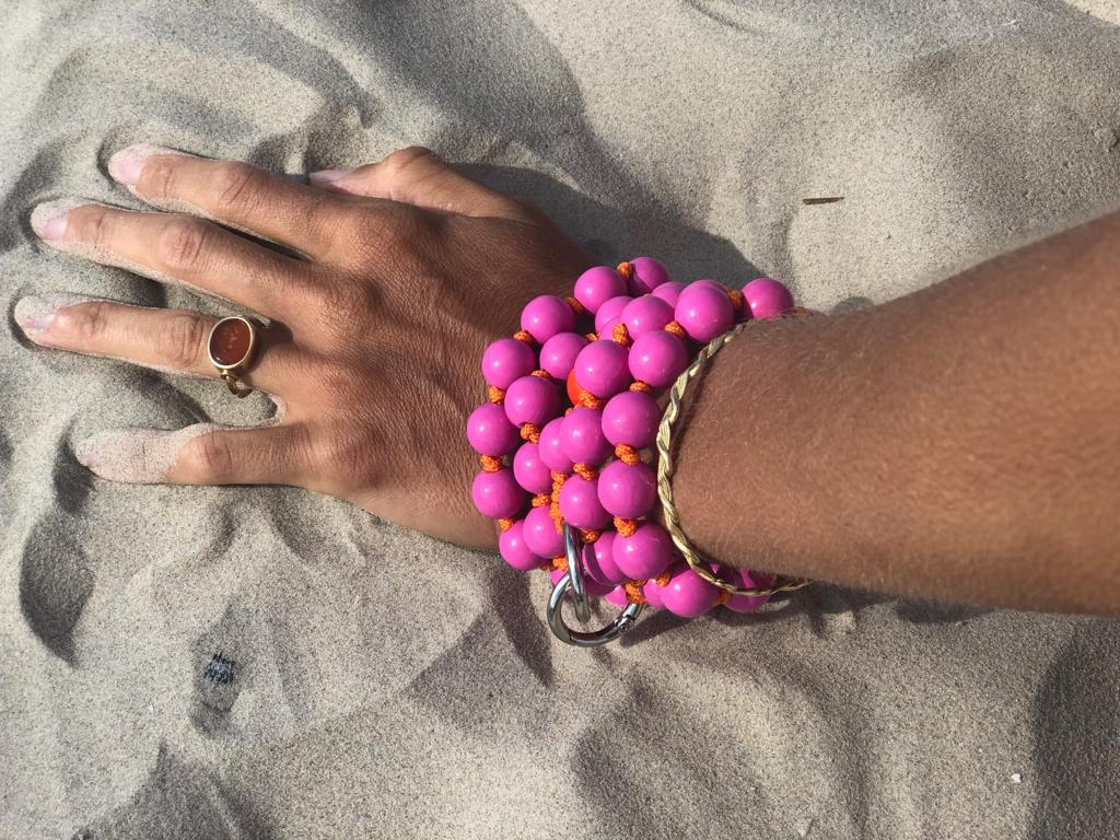 Up Beads Handykette pink