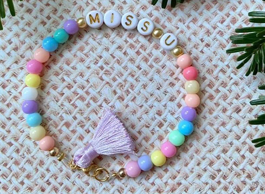 Buchstaben Armband - MISS U