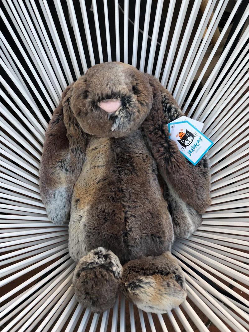 Bashful Bunnie von Jellycat grau meliert